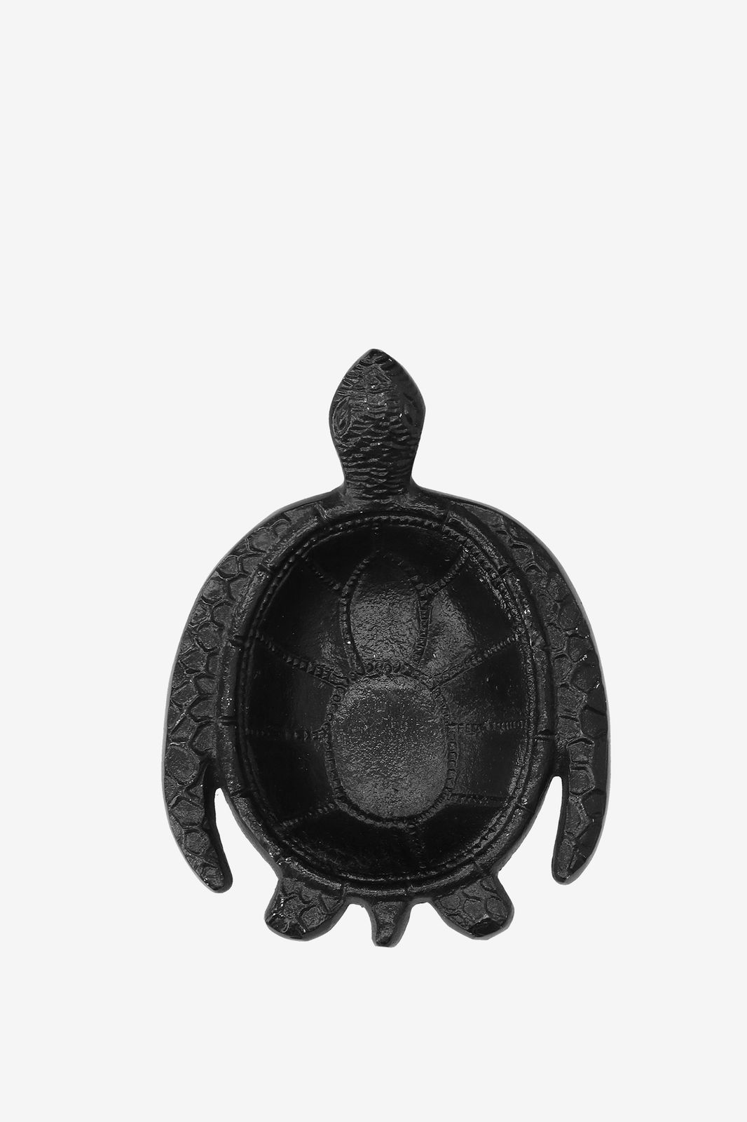 Zwart opbergdoosje schildpad