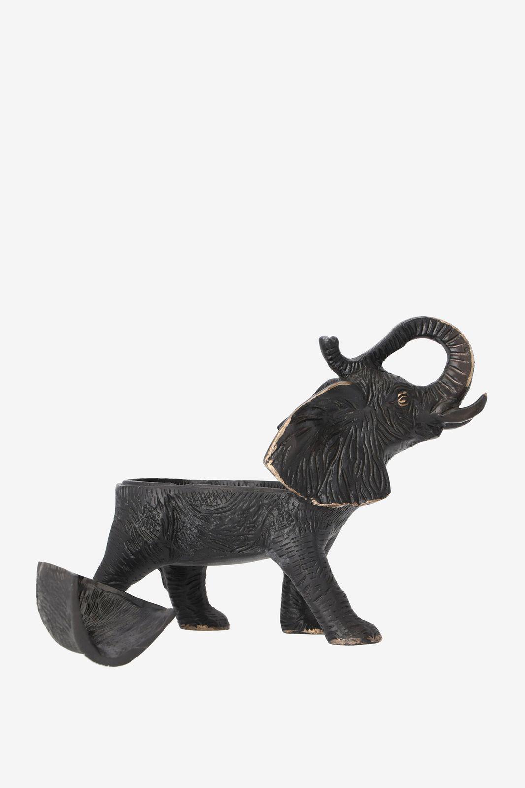 Zwarte deco olifant
