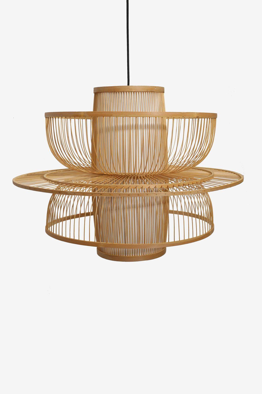Naturel hanglamp bamboe L