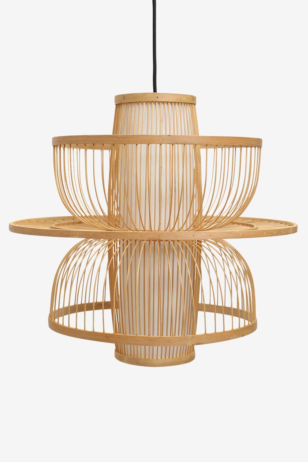 Naturel hanglamp bamboe M