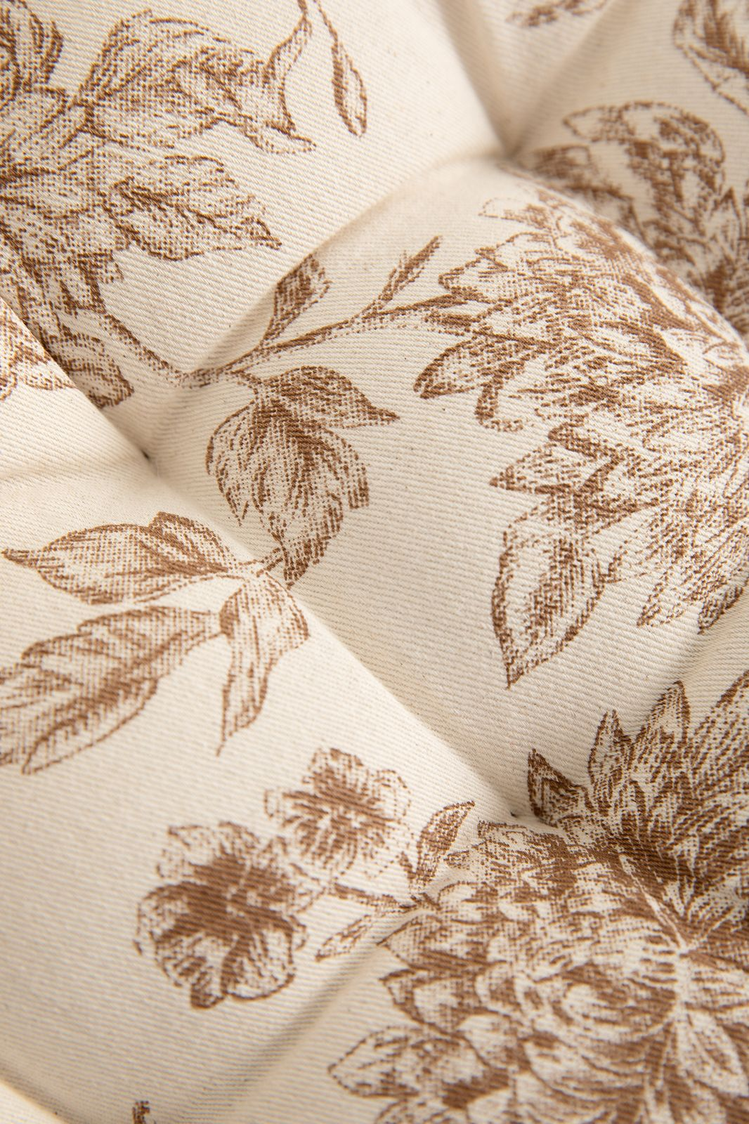 Bruin tuinkussen met all over bloemenprint - Homeland | Sissy-Boy