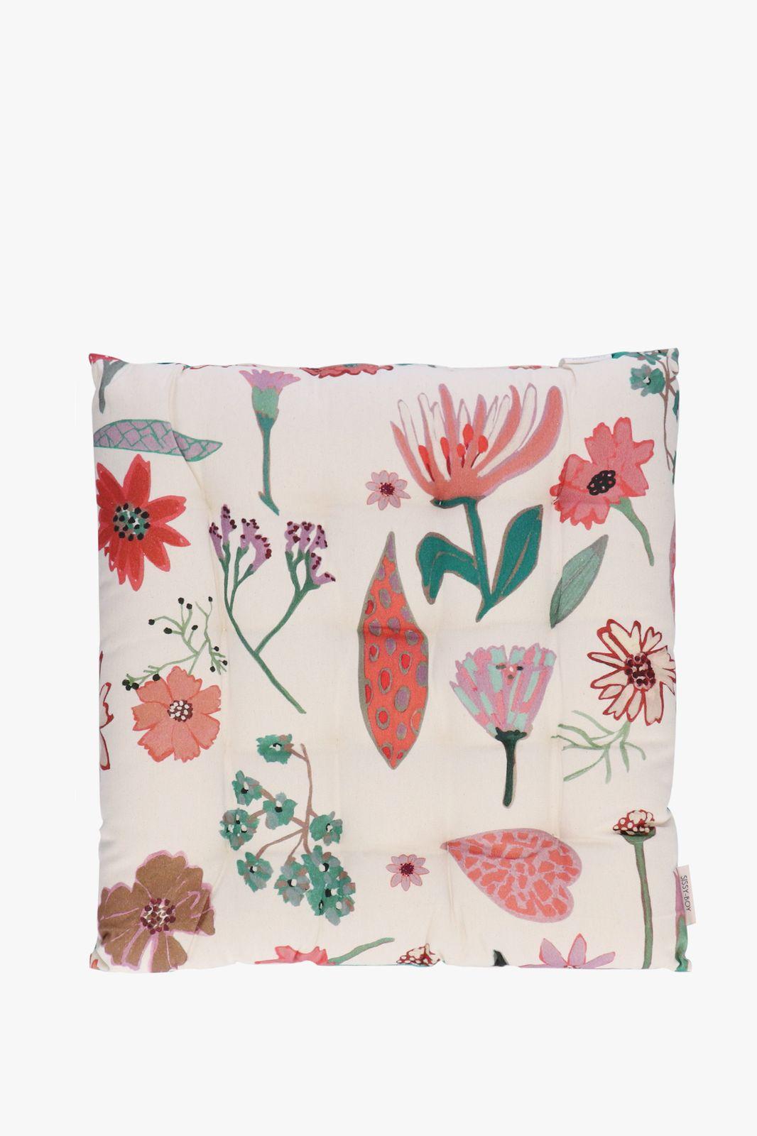 Groen tuinkussen met all over bloemenprint - Homeland | Sissy-Boy
