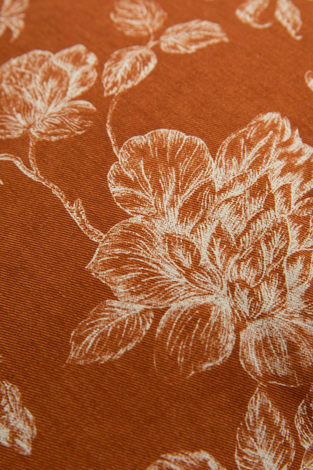 Terracotta sierkussen met all over bloemenprint - Homeland | Sissy-Boy