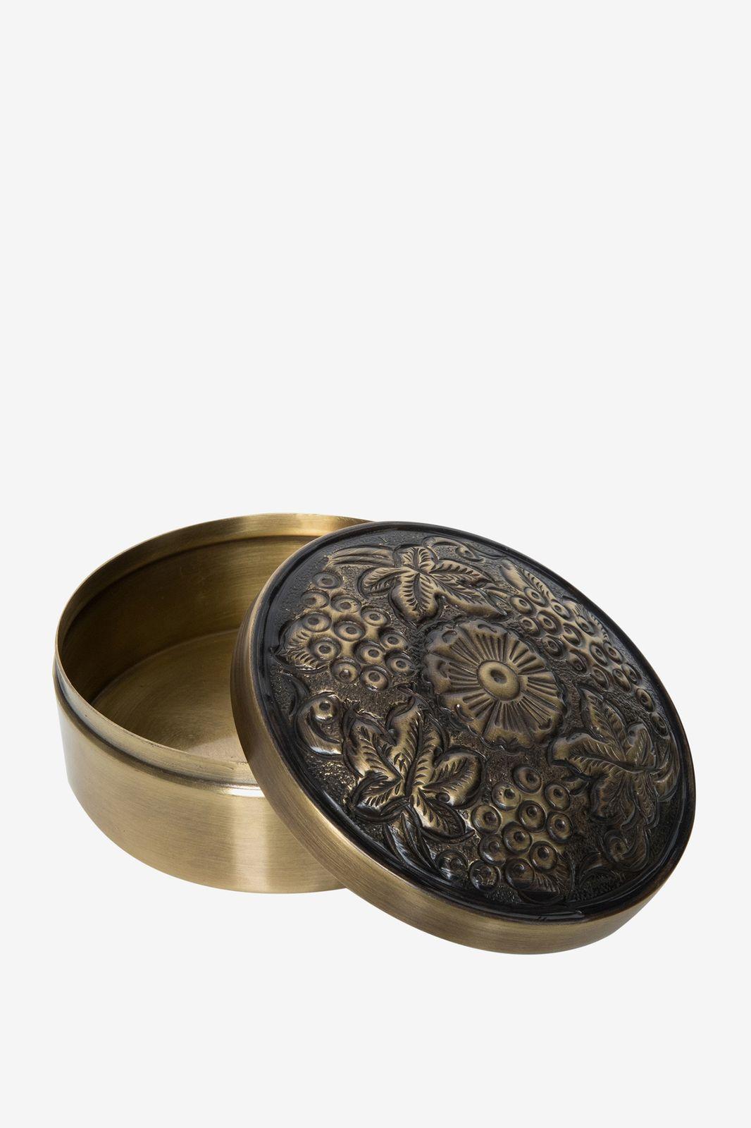 Gouden decoratie doosje met sierlijk design - Homeland   Sissy-Boy