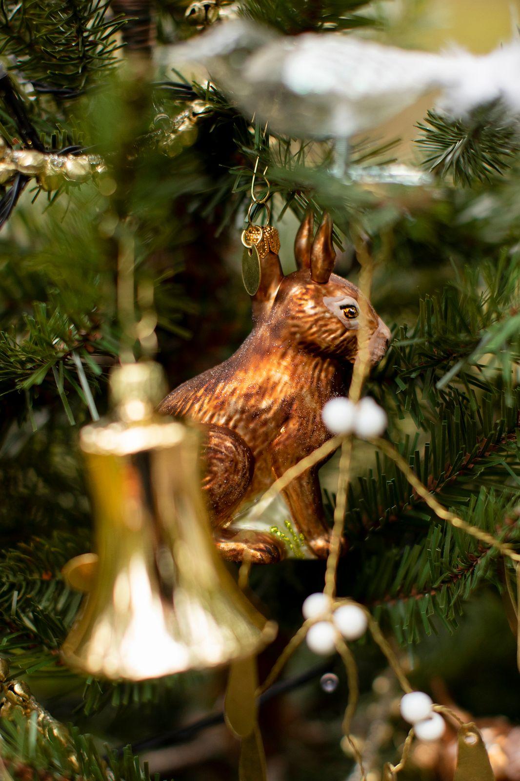 Kerst ornament haas