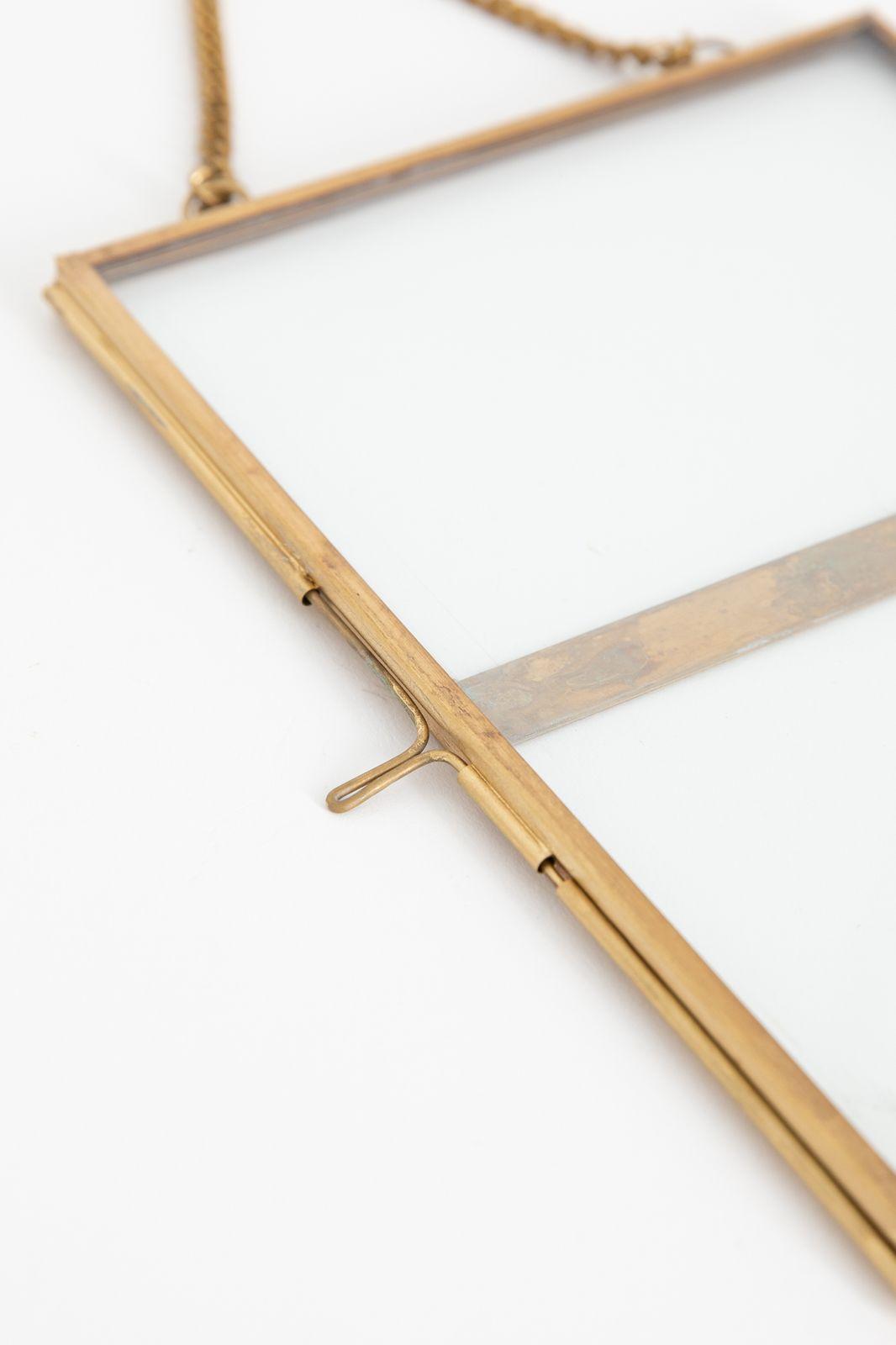 Fotolijst dubbelglas met ketting (18x12,5 cm)
