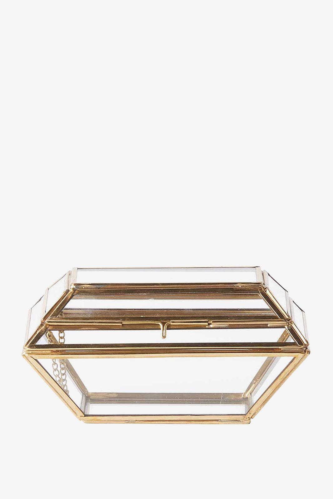 Goud glazen diamanten doosje - Homeland | Sissy-Boy