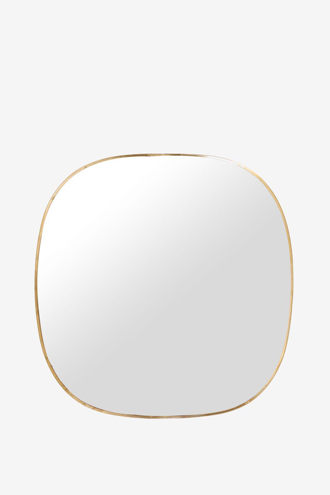 Goudkleurige hangspiegel rond