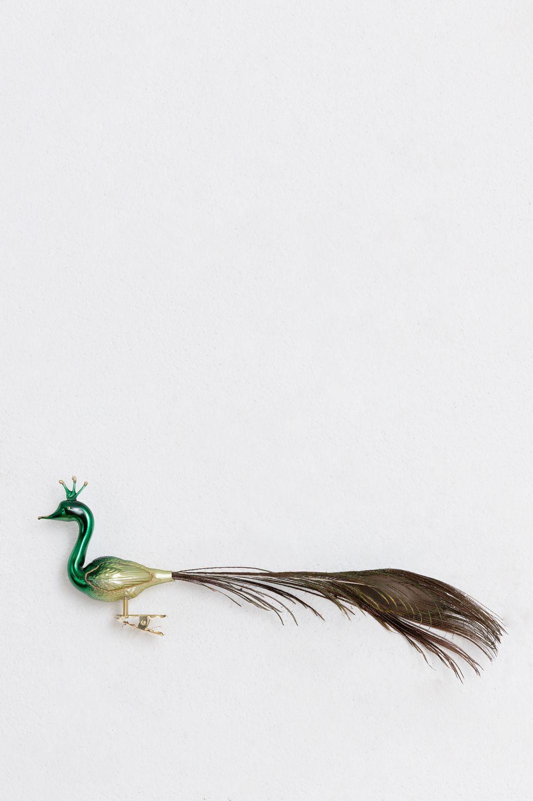 Kerst ornament pauw (28 cm)