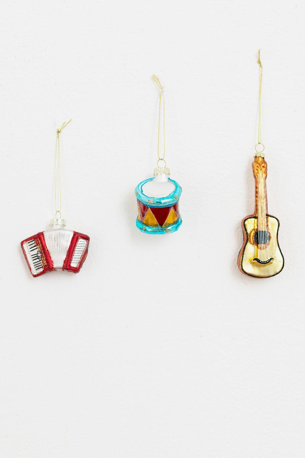 Kerst ornamenten muziek set