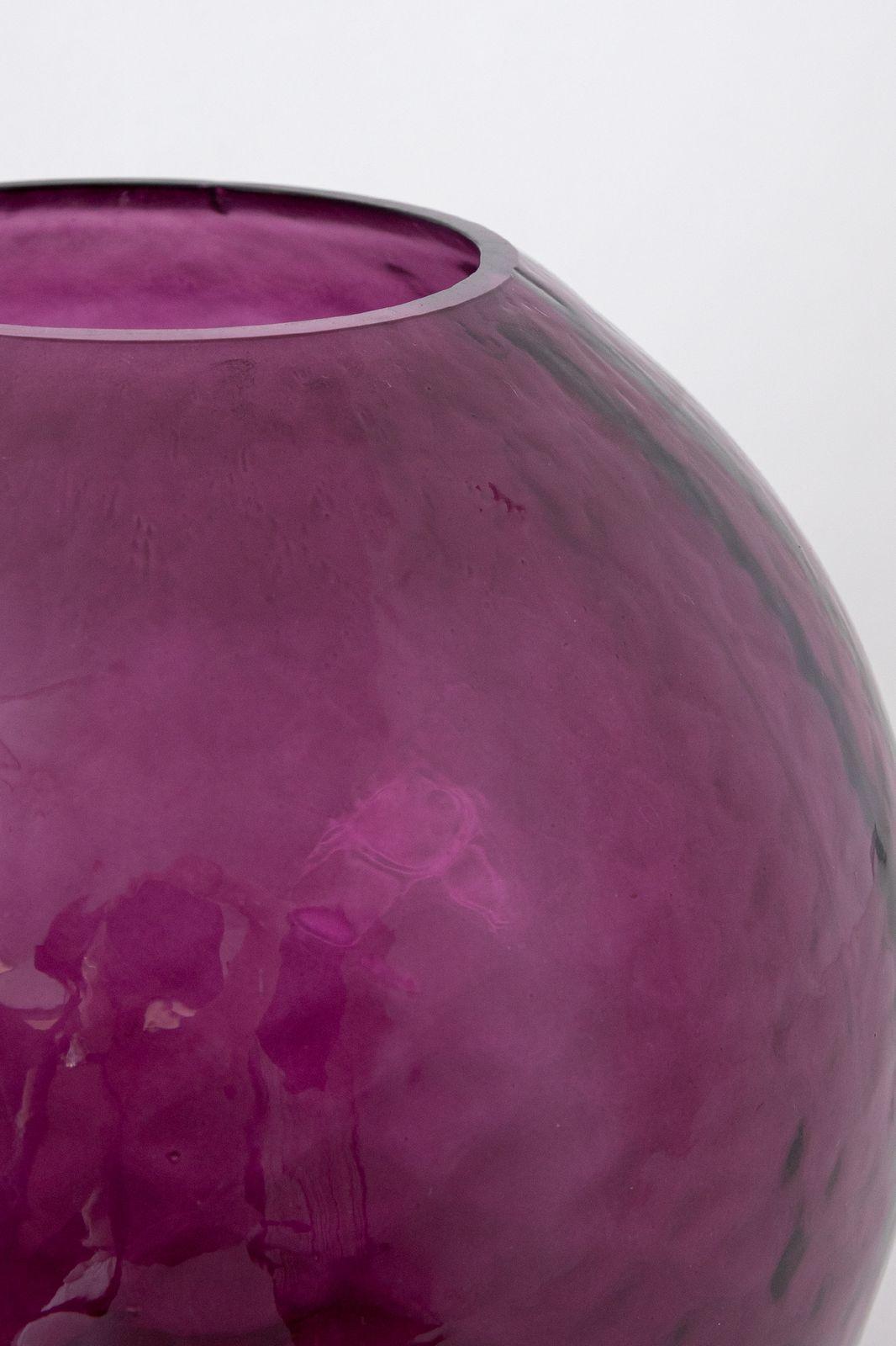 Paarse bolvormige glazen vaas - Homeland   Sissy-Boy