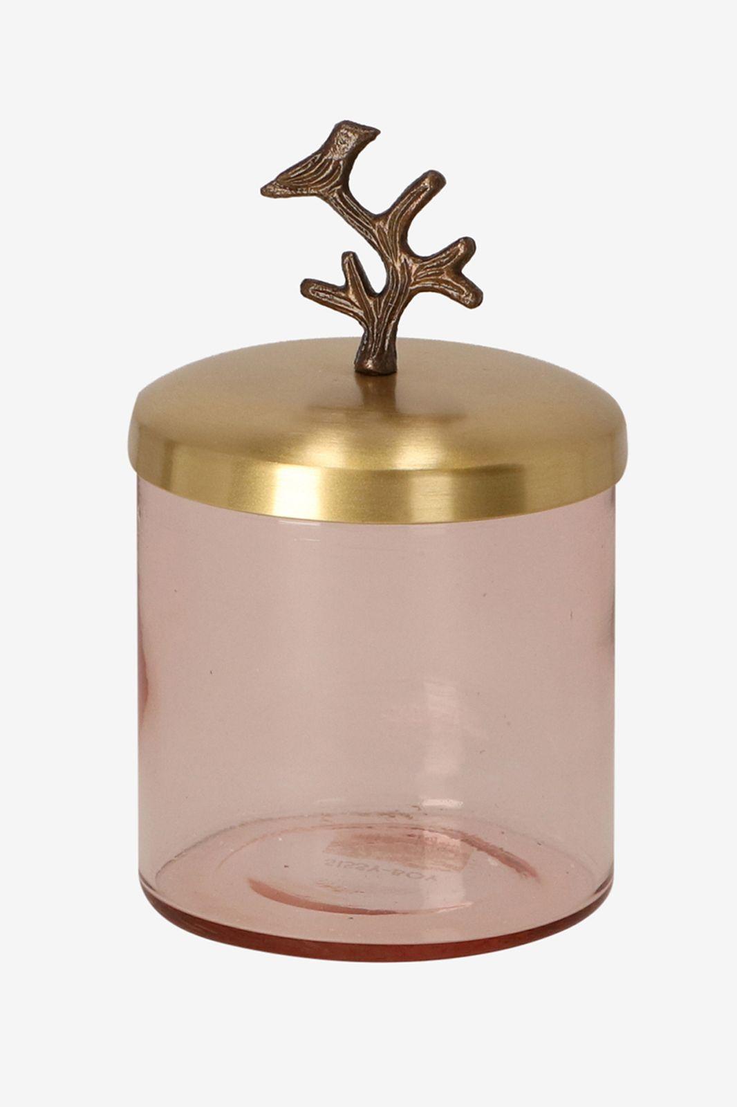 Roze glazen box small