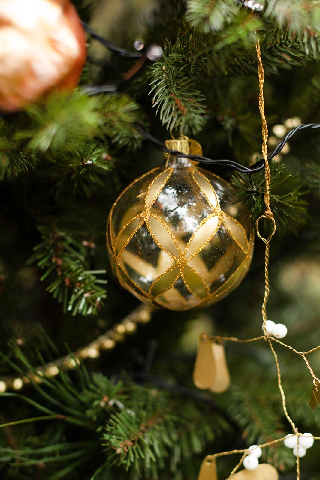 Kerstbal goud glas - Homeland | Sissy-Boy
