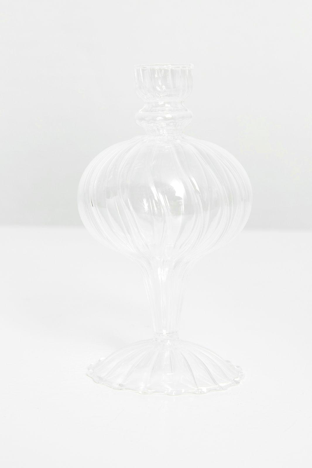 Glazen vaasje boro rib (9x16,3 cm) - Homeland | Sissy-Boy