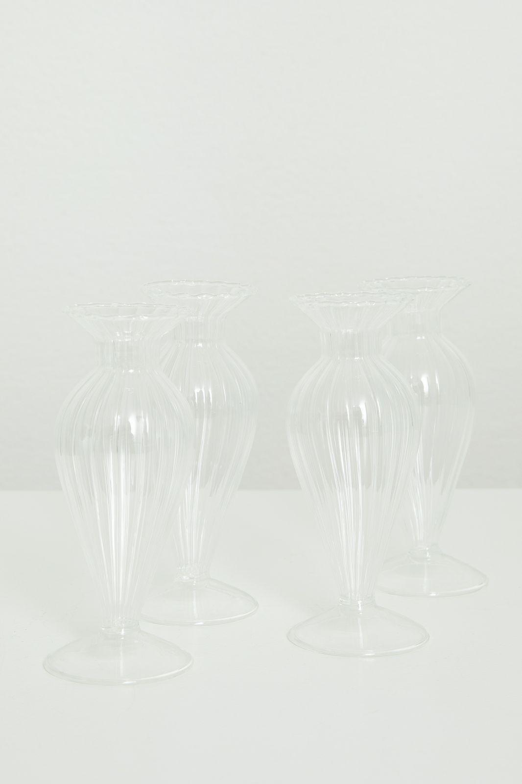 Glazen vaasje boro rib (6,5x16 cm) - Homeland | Sissy-Boy