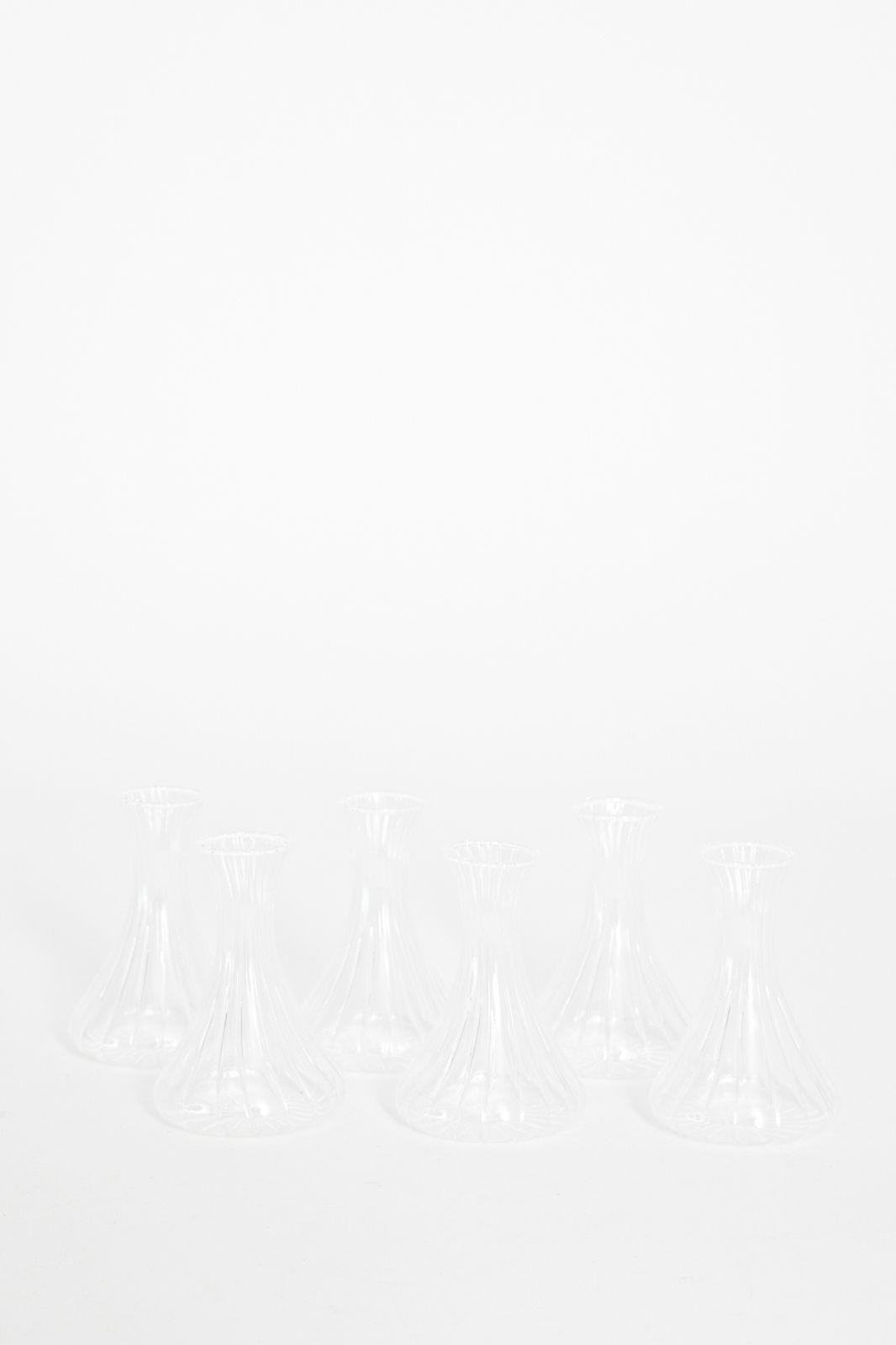 Glazen vaasje boro rib (7x10 cm)