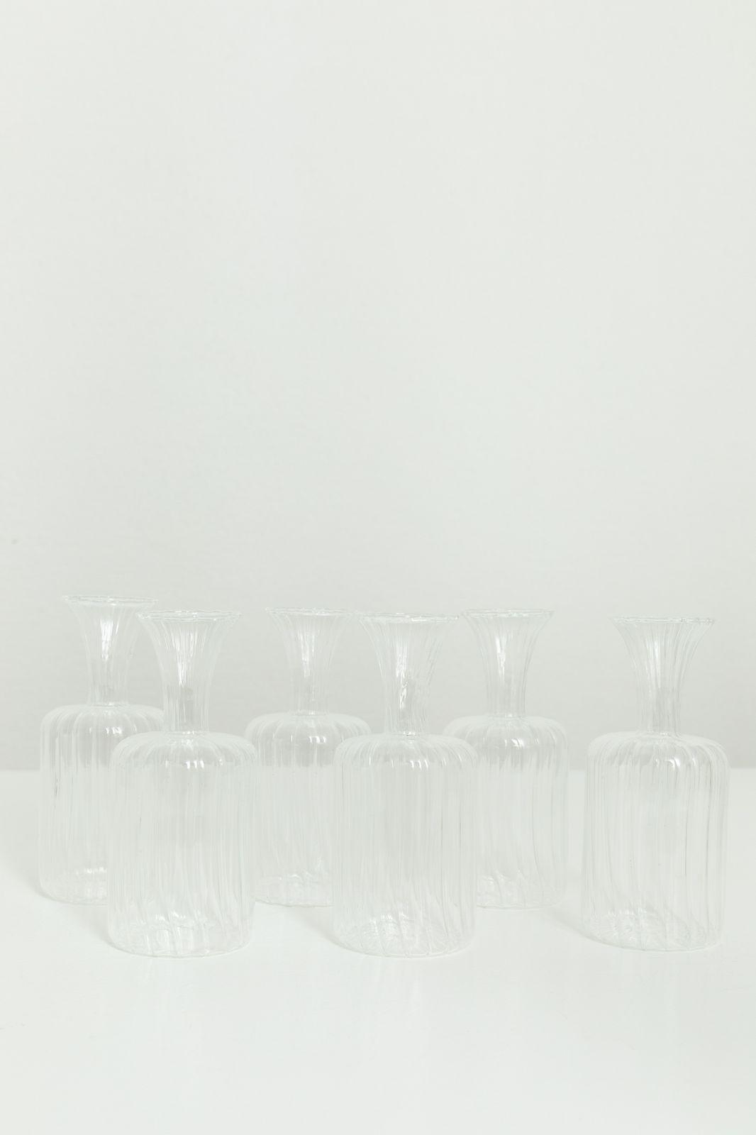 Glazen vaasje boro rib (6,5x14 cm) - Homeland   Sissy-Boy
