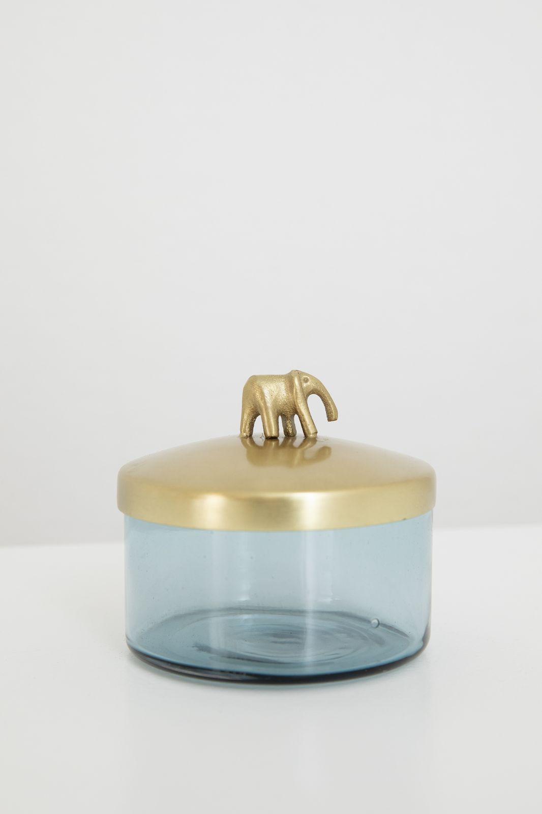 Glazen pot olifant