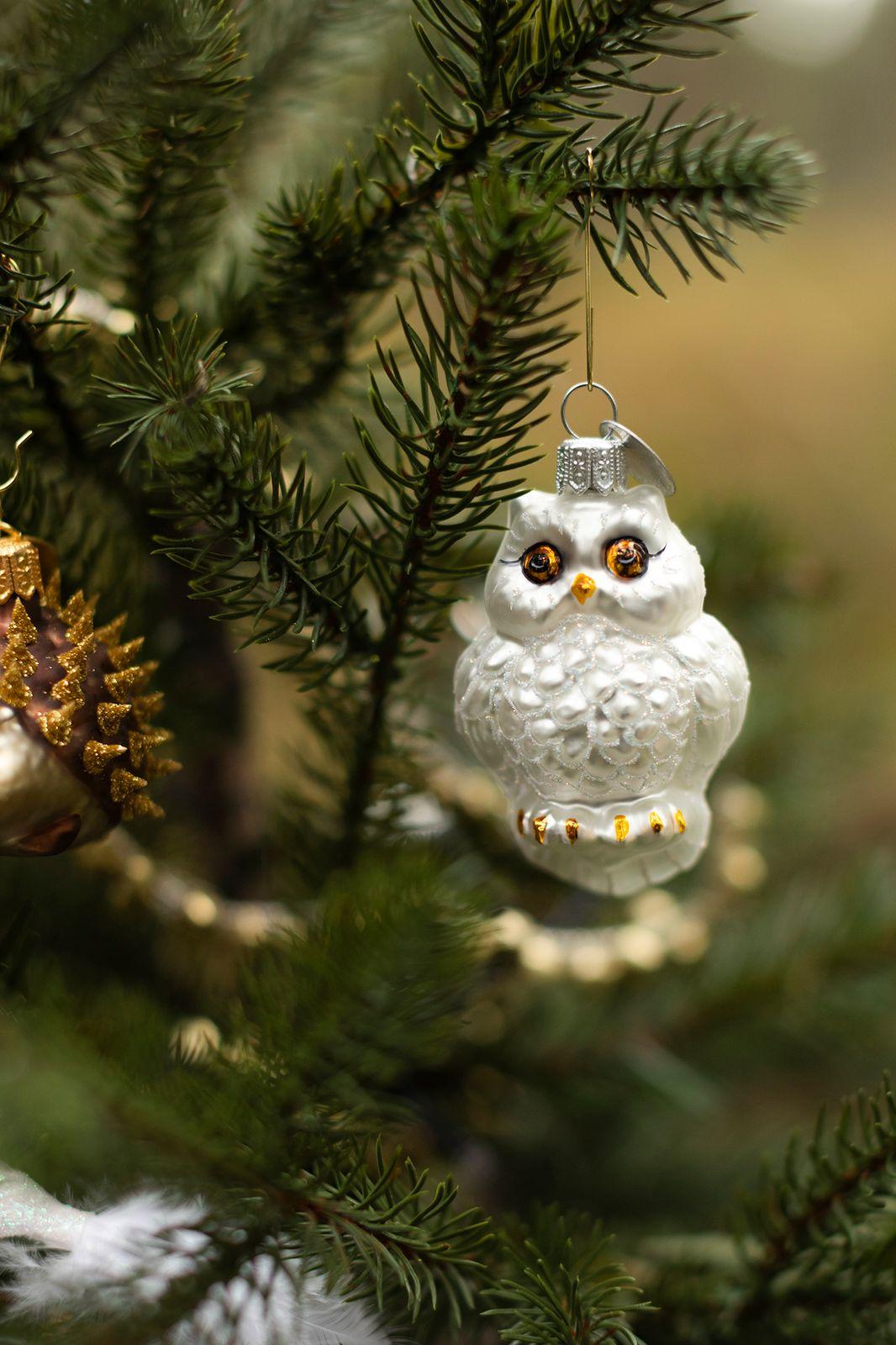 Kerst ornament sneeuwuil