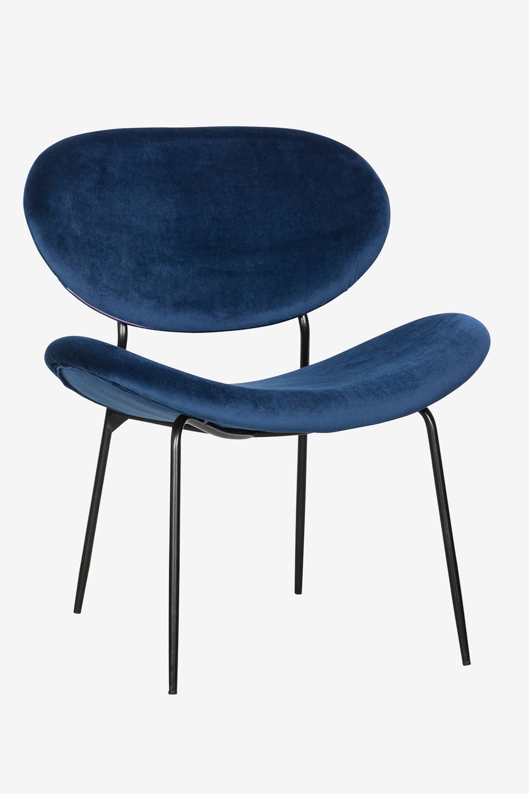 Blauwe velvet fauteuil - Homeland | Sissy-Boy
