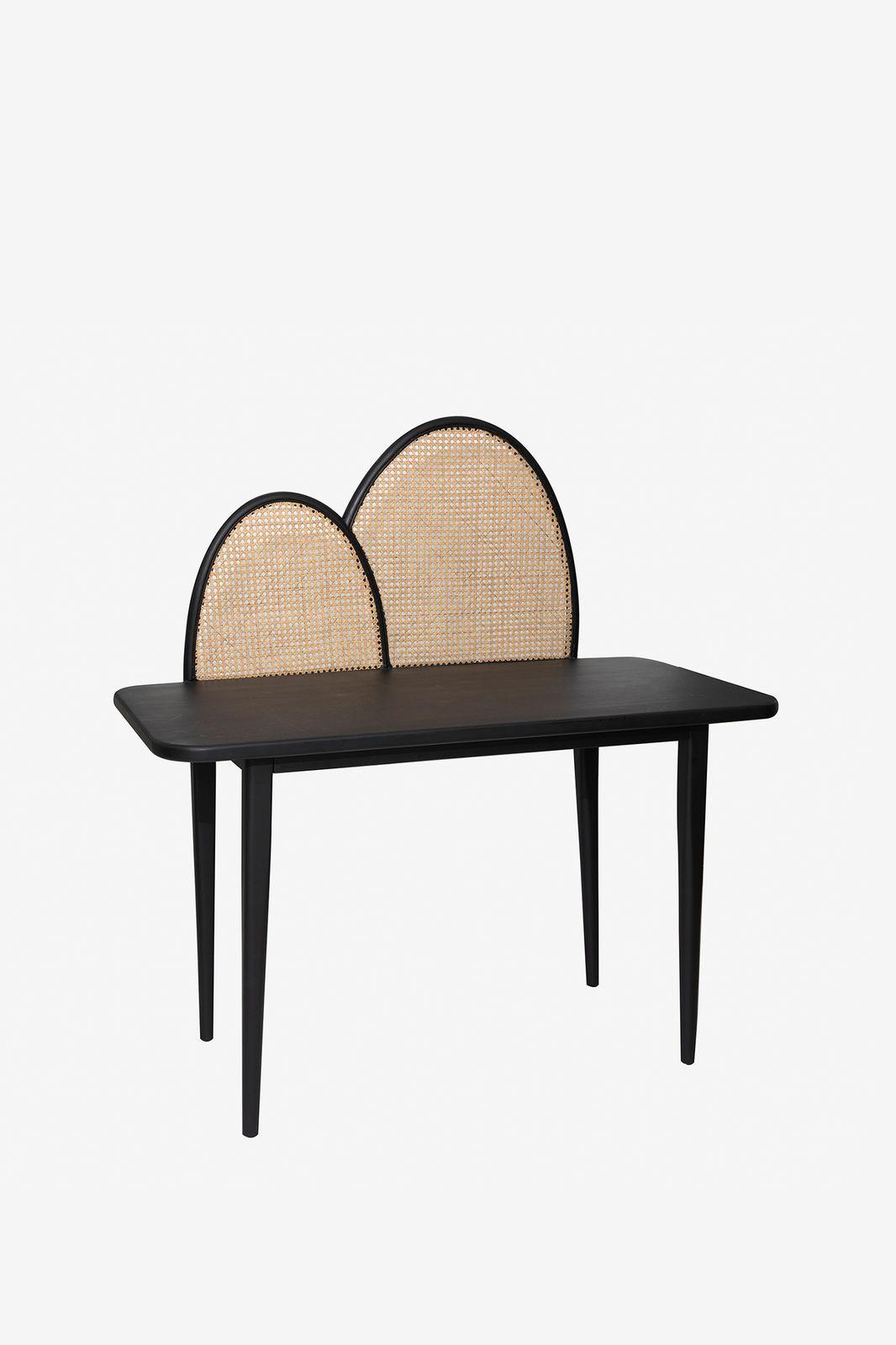 Zwart houten bureau webbing - Homeland | Sissy-Boy