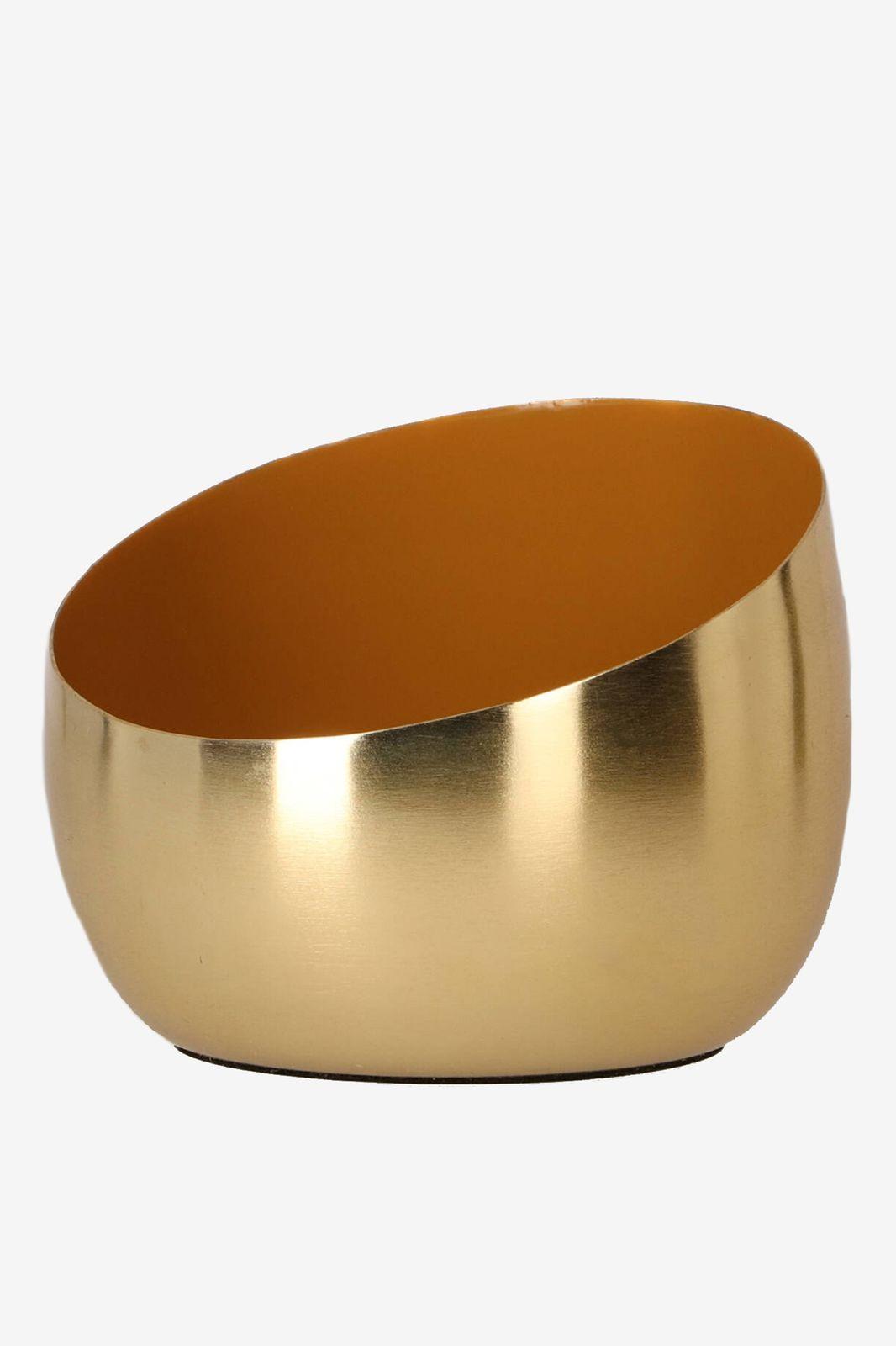 Gouden waxinehouder