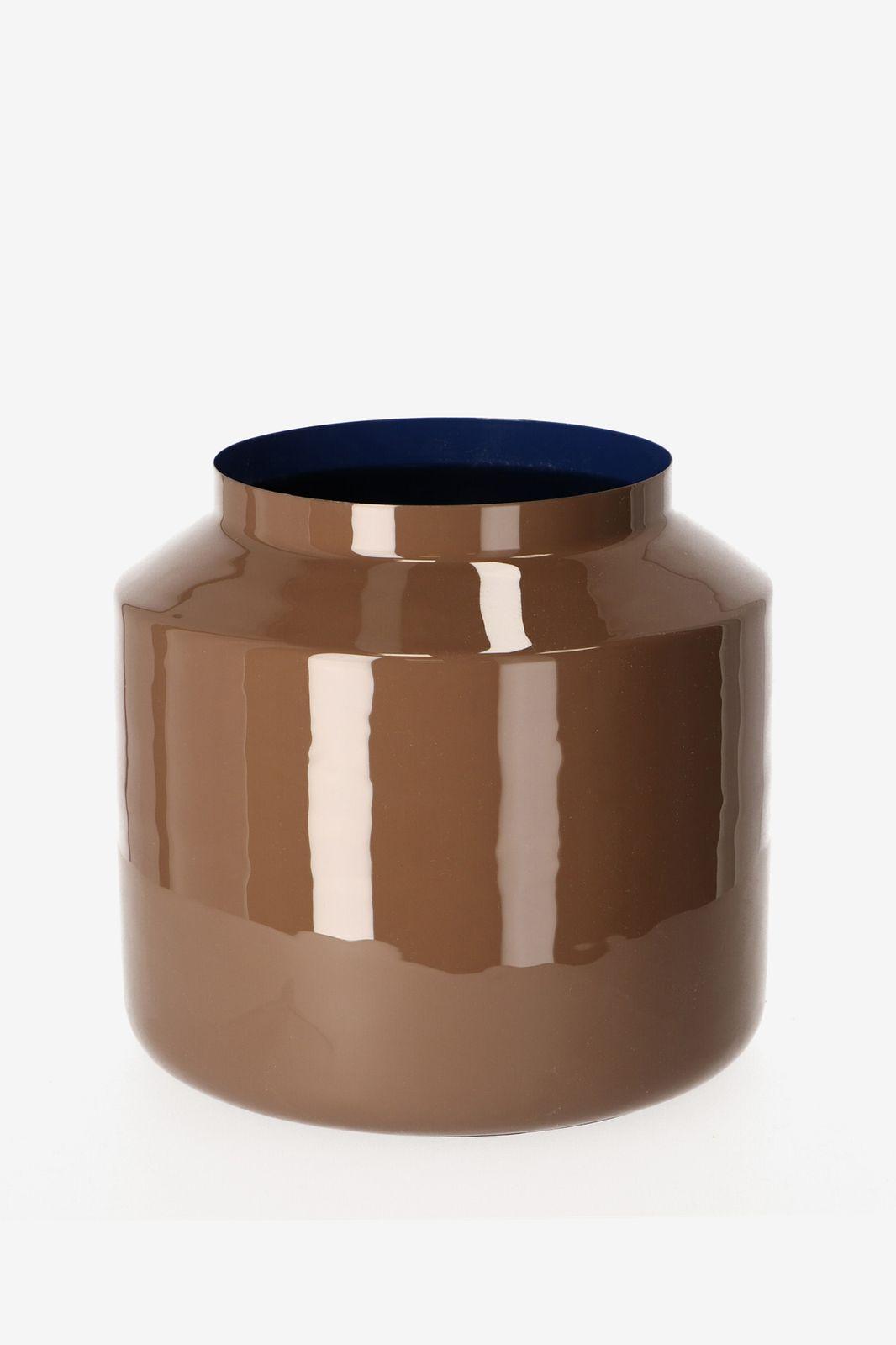 Bruine enamel pot