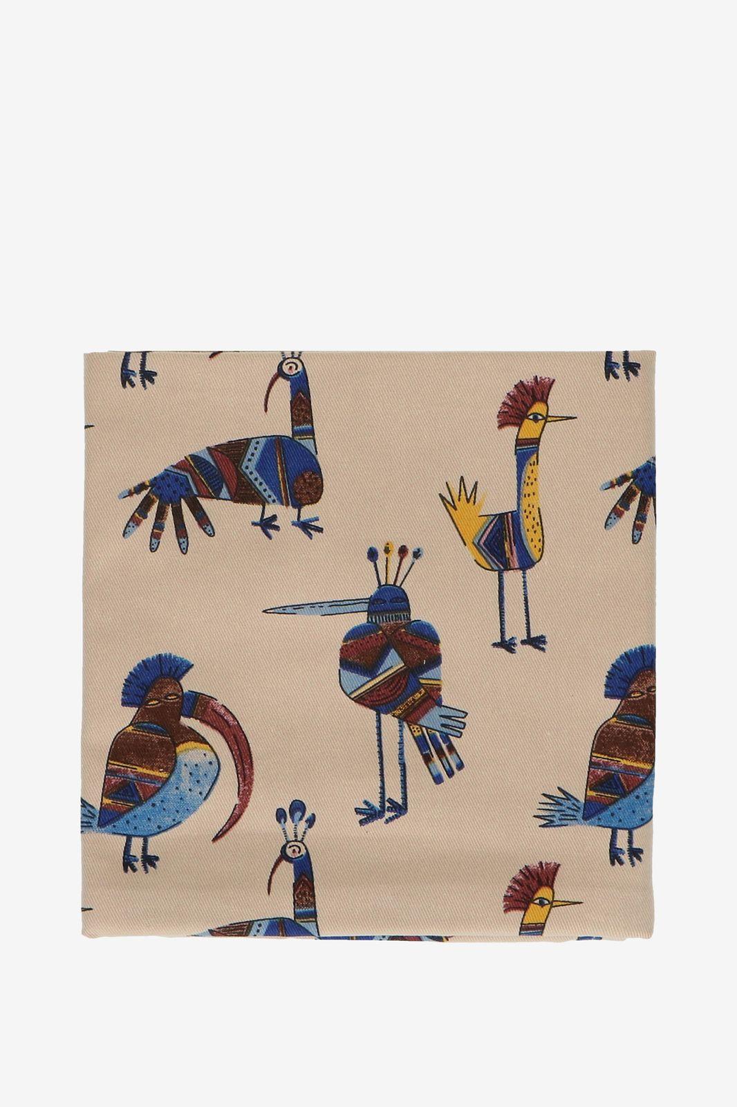 Theedoek met vogel print