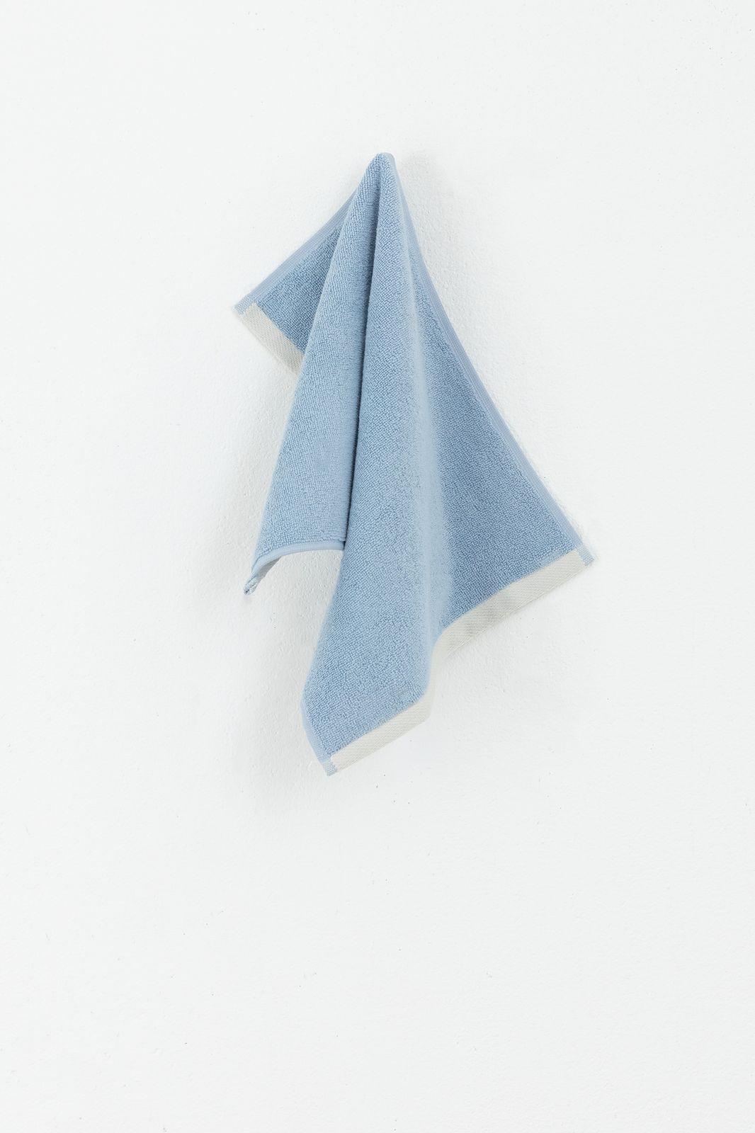 Blauwe gastenhanddoek