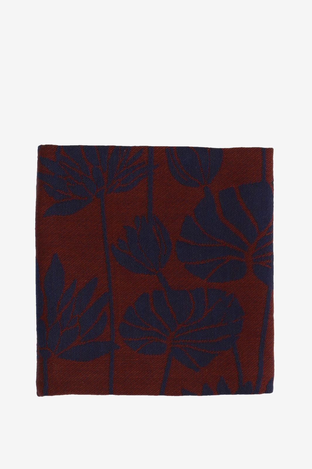 Donkerblauwe theedoek met lotus