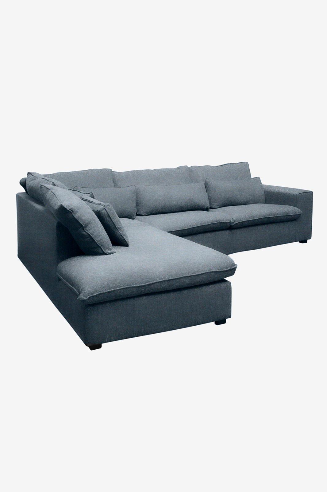 Baron bank 3.5-zits lounge links donkerblauw