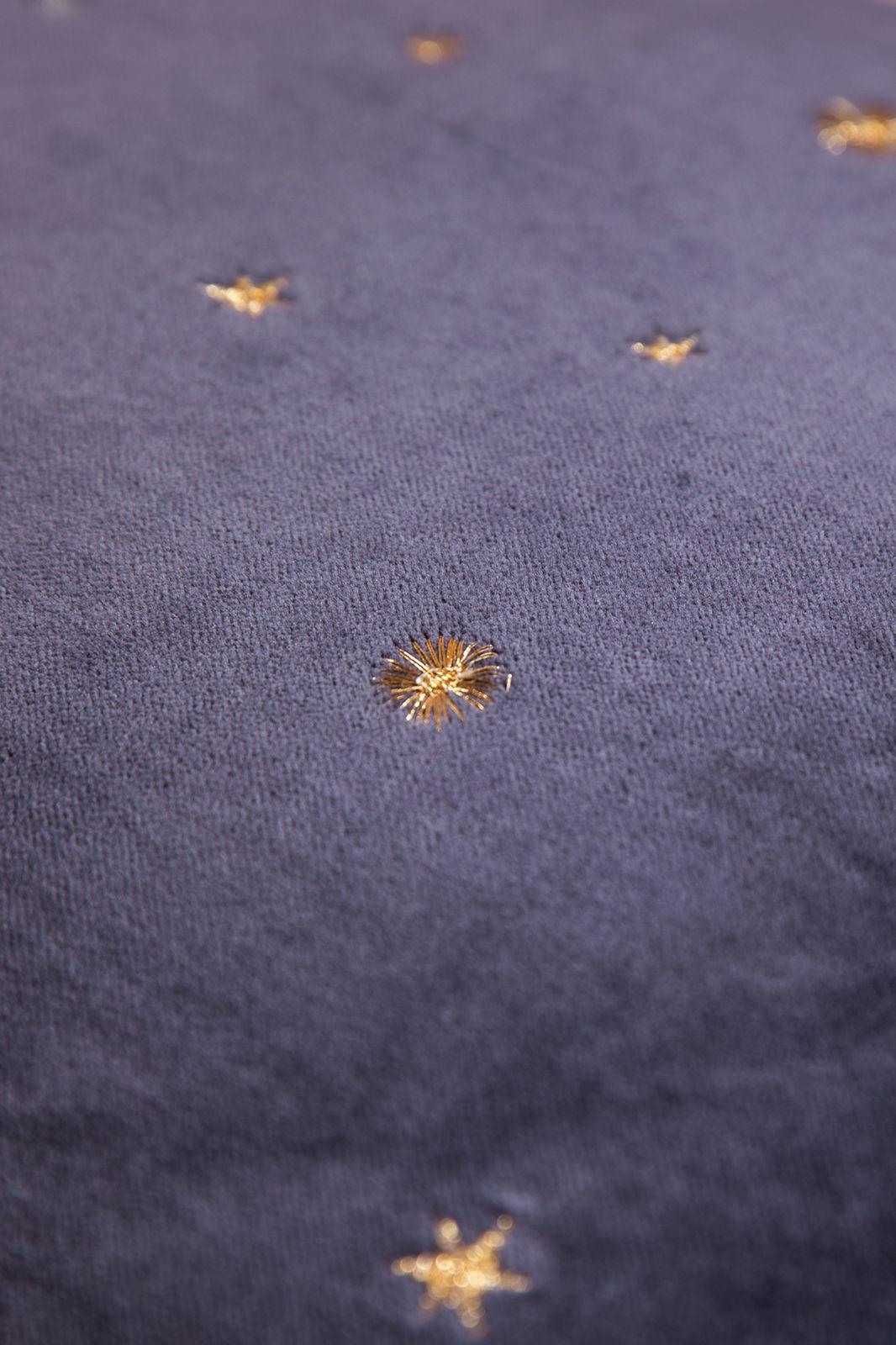 Donkerblauw sierkussen met ster embroidery - Homeland | Sissy-Boy