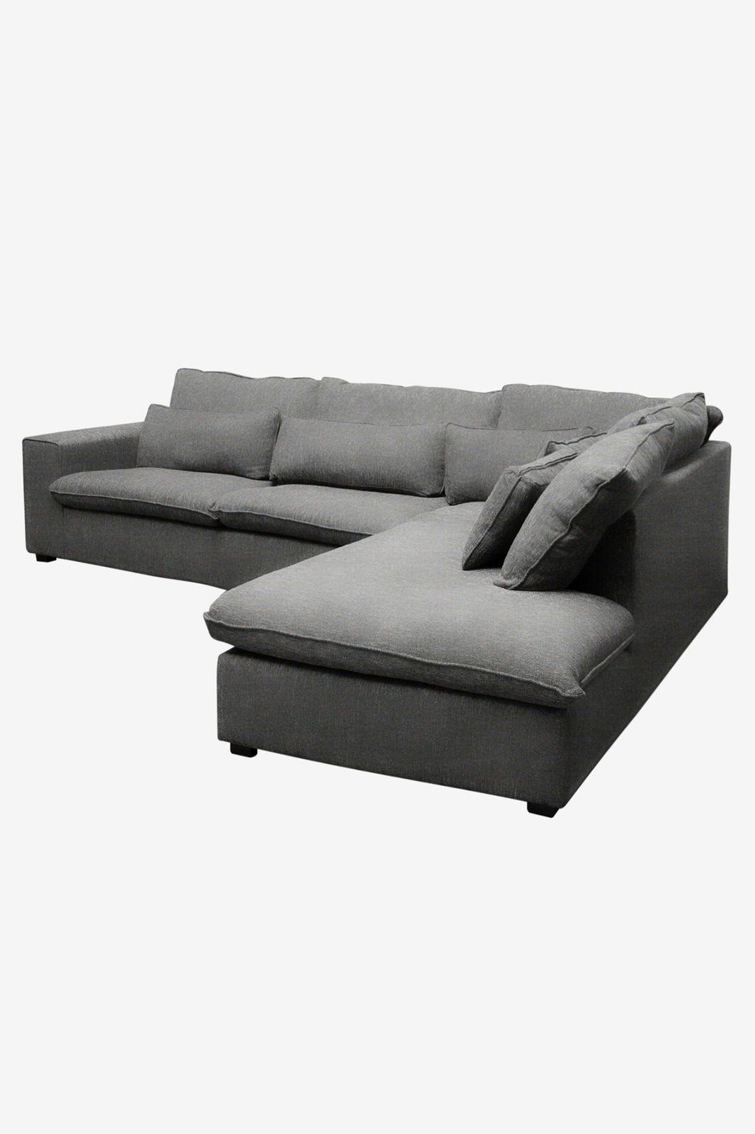 Baron bank 3.5-zits lounge rechts donkergrijs