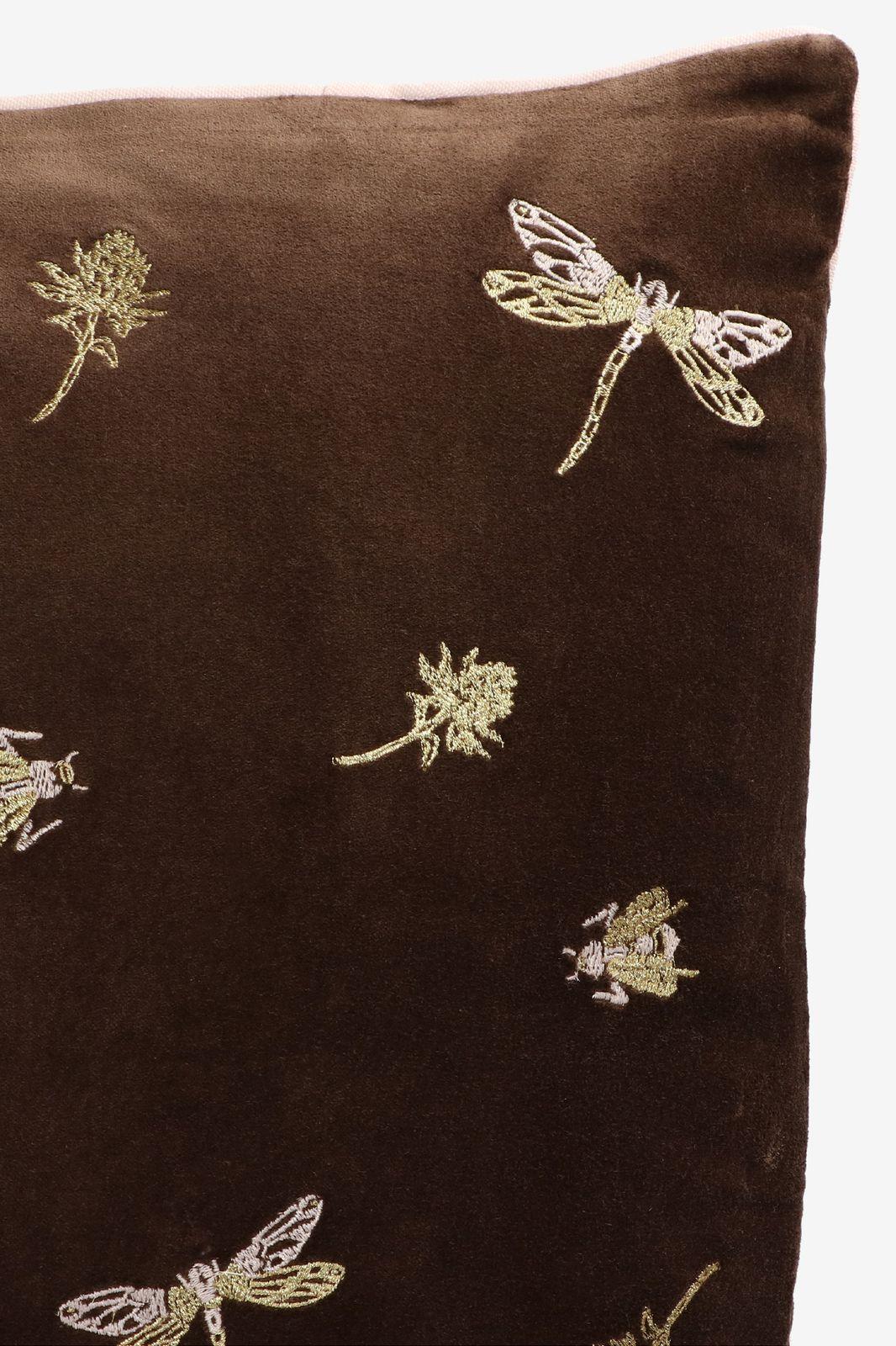 Donkergroen sierkussen met gouden borduursels - Homeland | Sissy-Boy