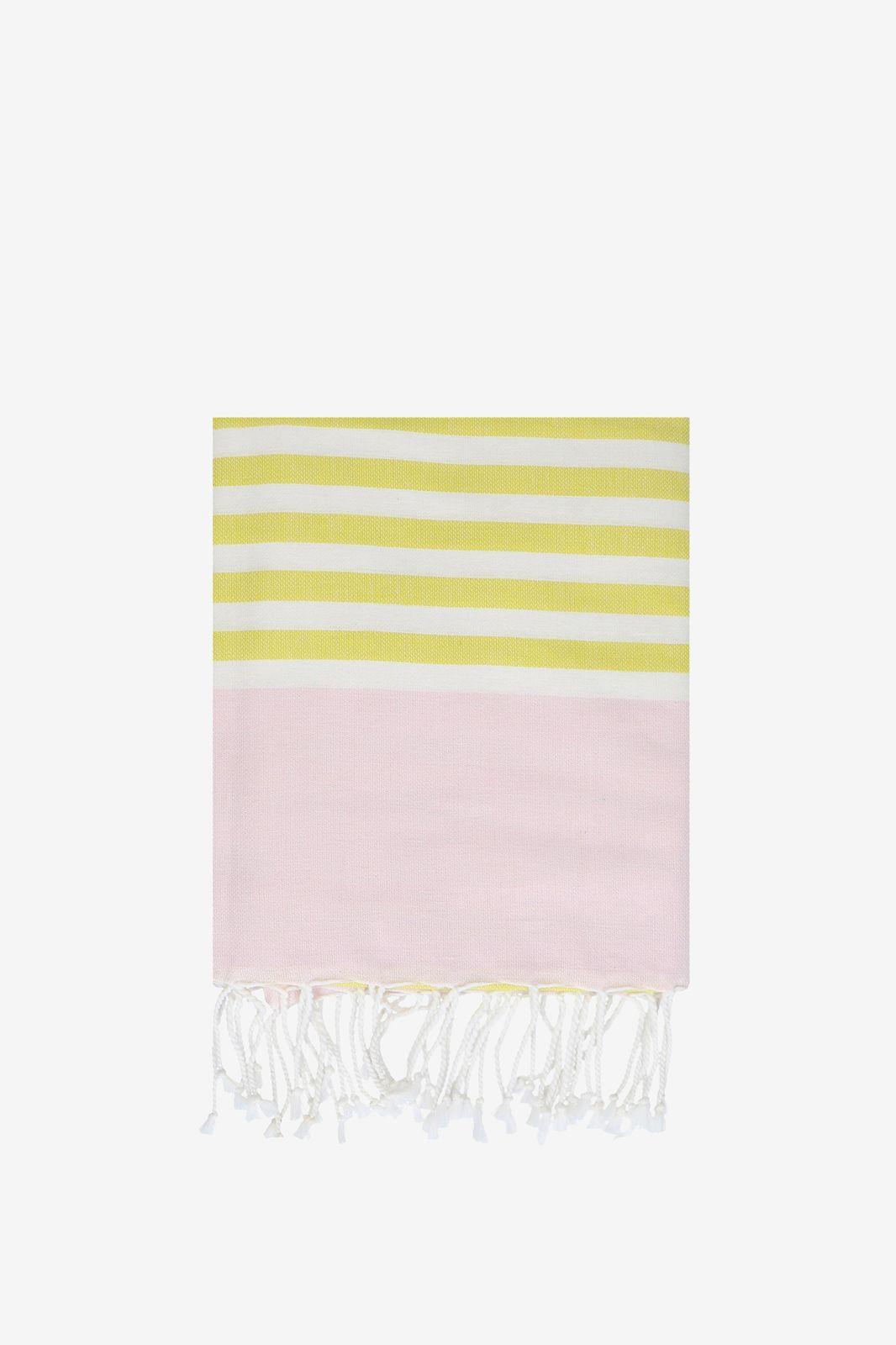 Roze met geel gestreepte hamamdoek - Homeland | Sissy-Boy