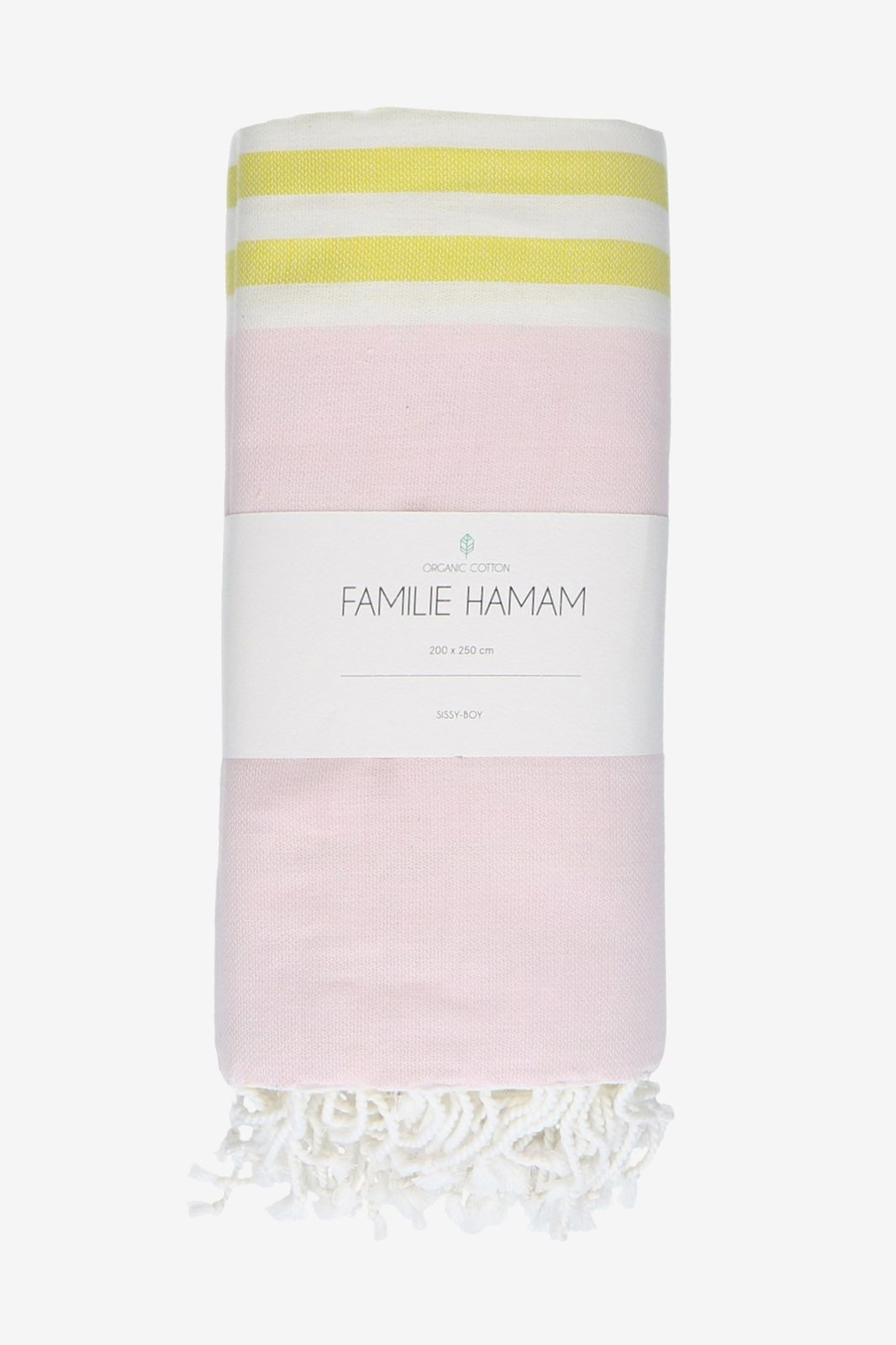 Roze met geel gestreepte hamamdoek - Homeland   Sissy-Boy