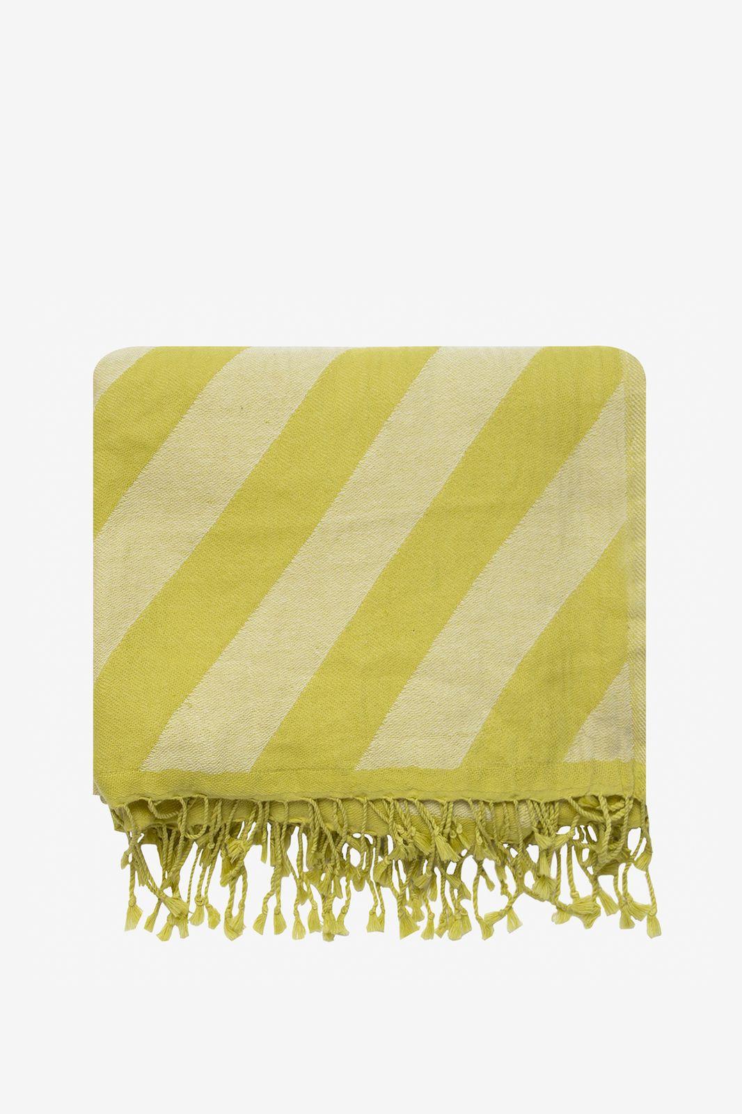 Gele deken met candy stripe - Homeland | Sissy-Boy