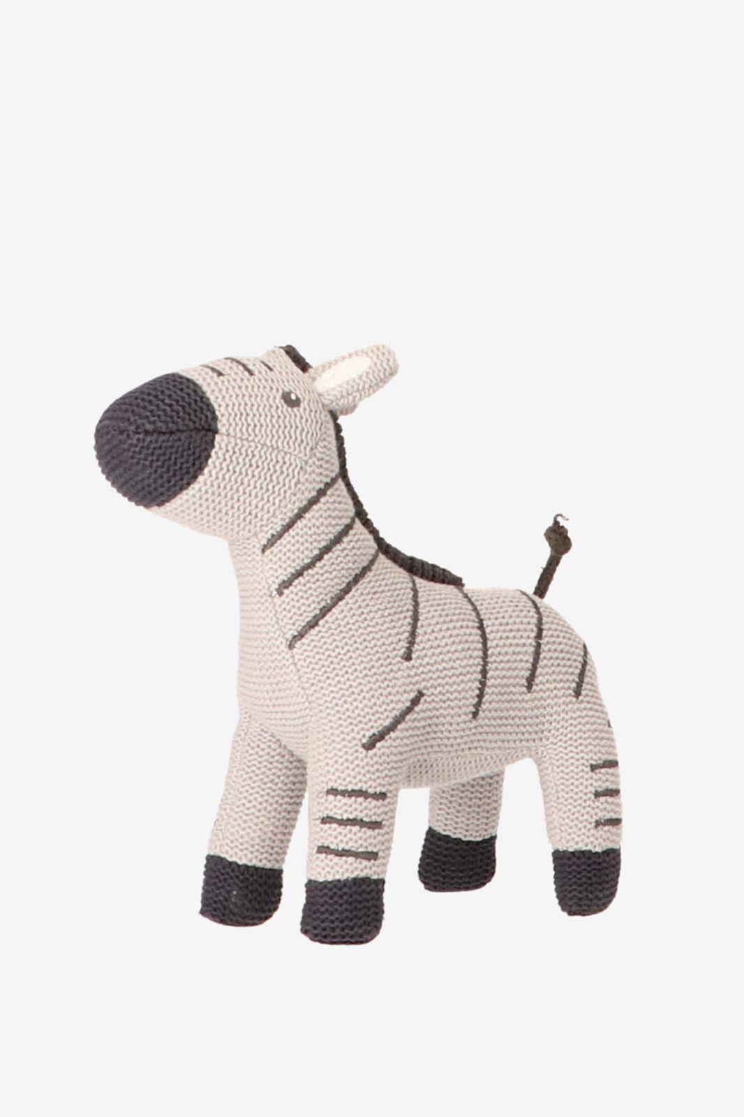 Grijs gebreide knuffel zebra - Homeland | Sissy-Boy