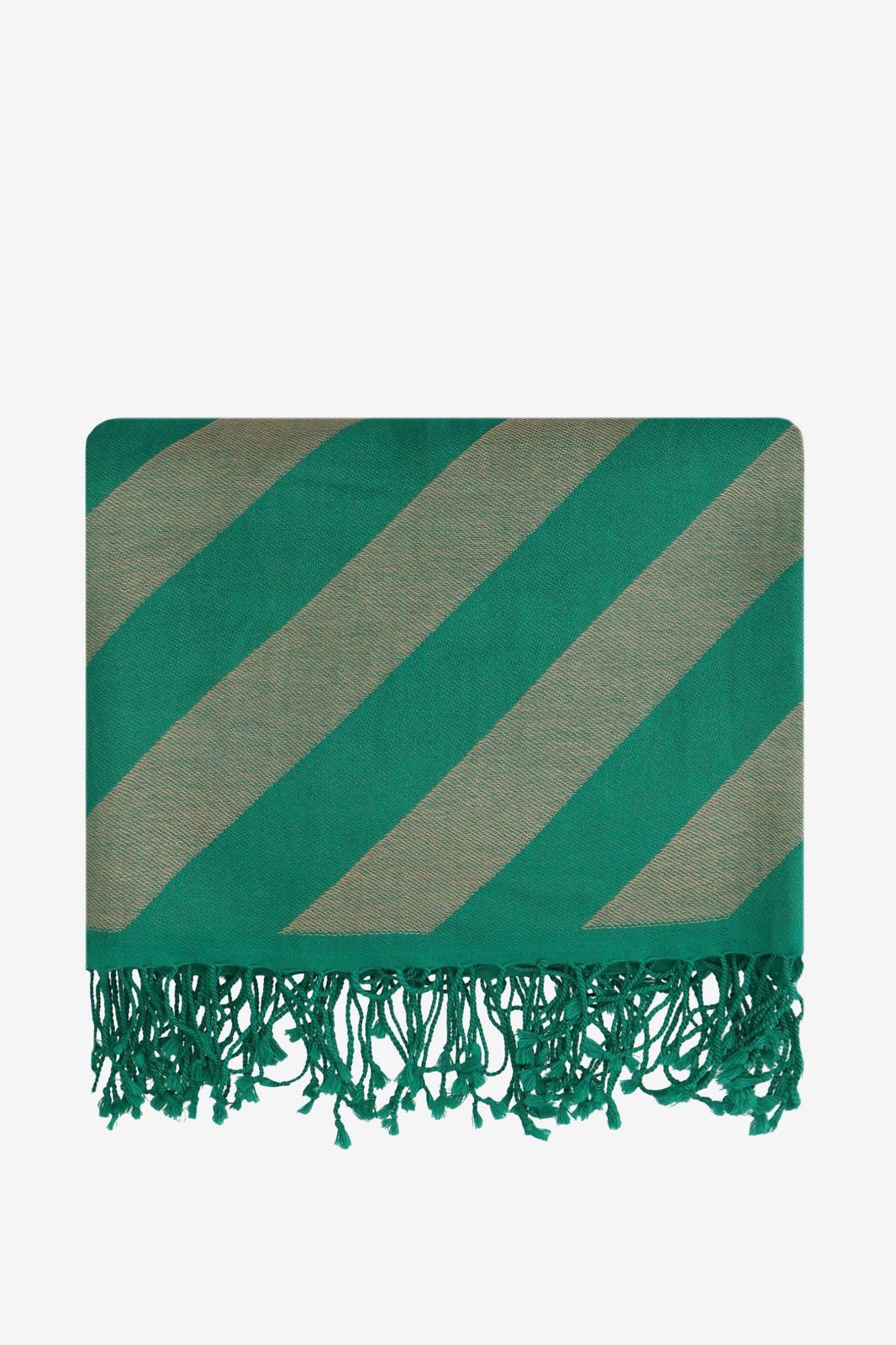 Groen deken met candy stripe