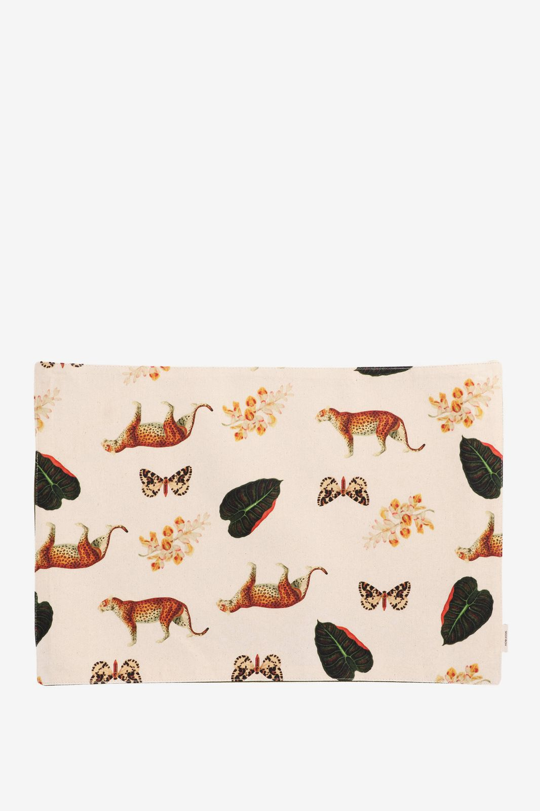 Beige placemats met jungle artwork (set van 2) - Homeland | Sissy-Boy