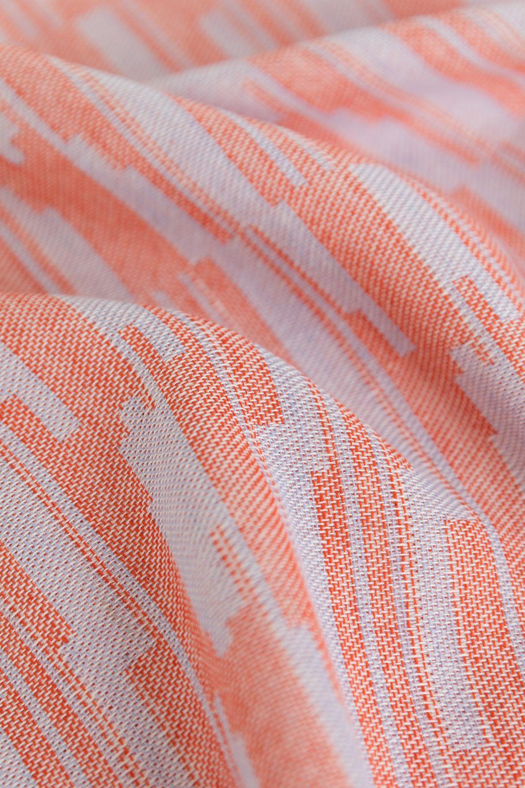 Oranje theedoek met grafische print