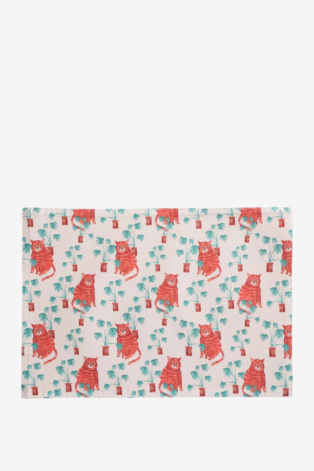 Beige placemats kattenprint (set van 2) - Homeland | Sissy-Boy