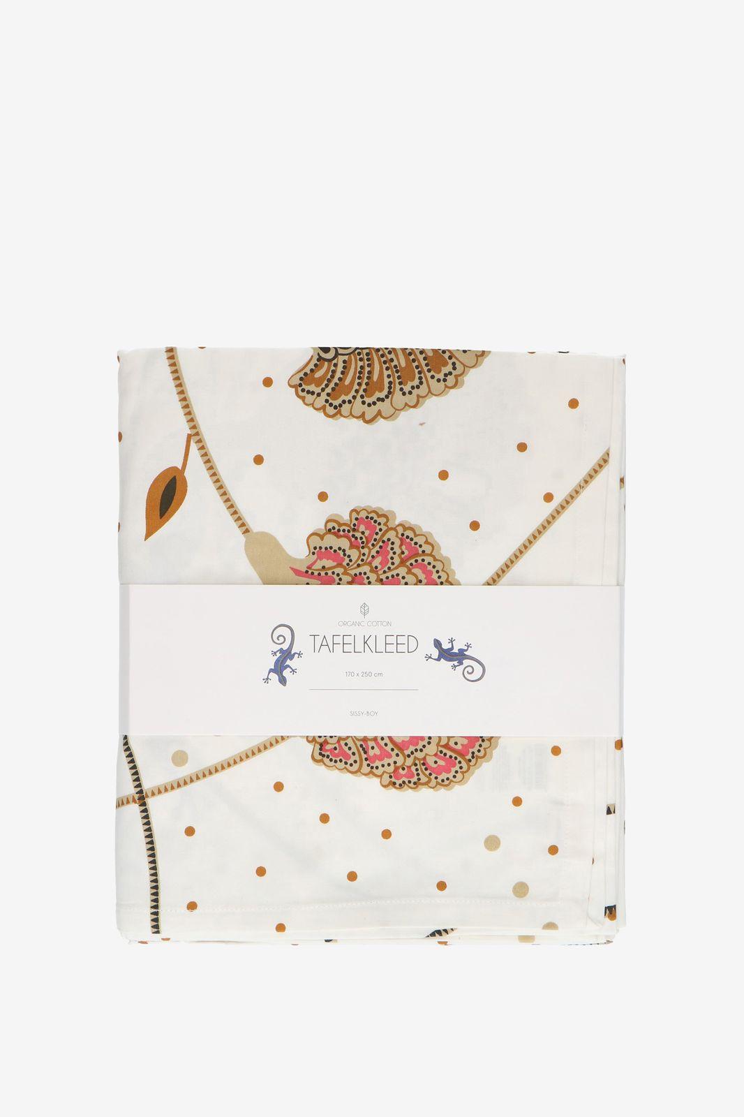 Wit tafelkleed met bloemen en gekko - Homeland | Sissy-Boy