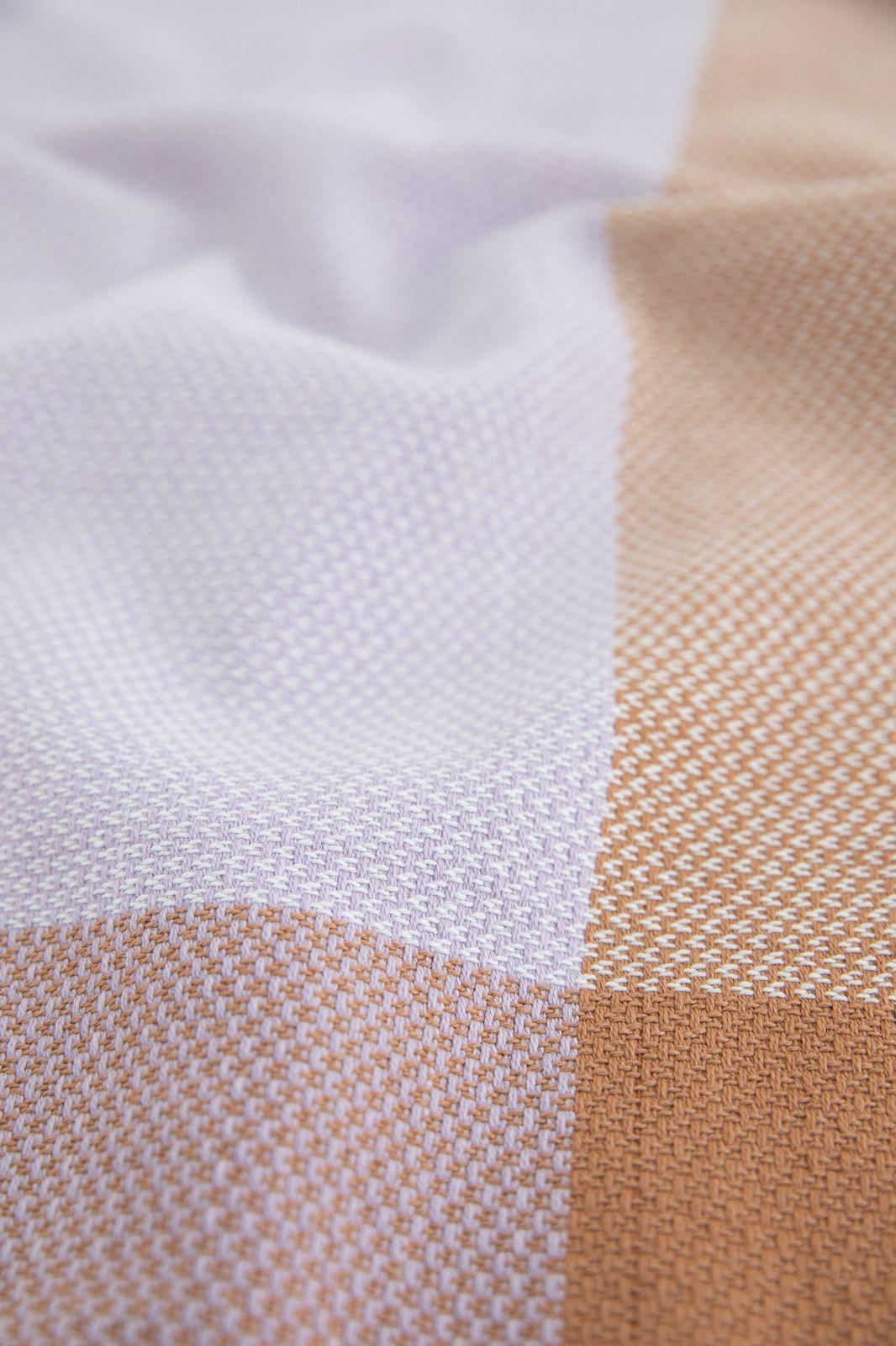 Paarse keukenhanddoek met knitted print