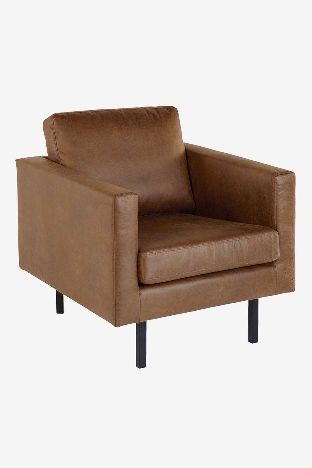 Amsterdam ecoleer clean fauteuil bruin