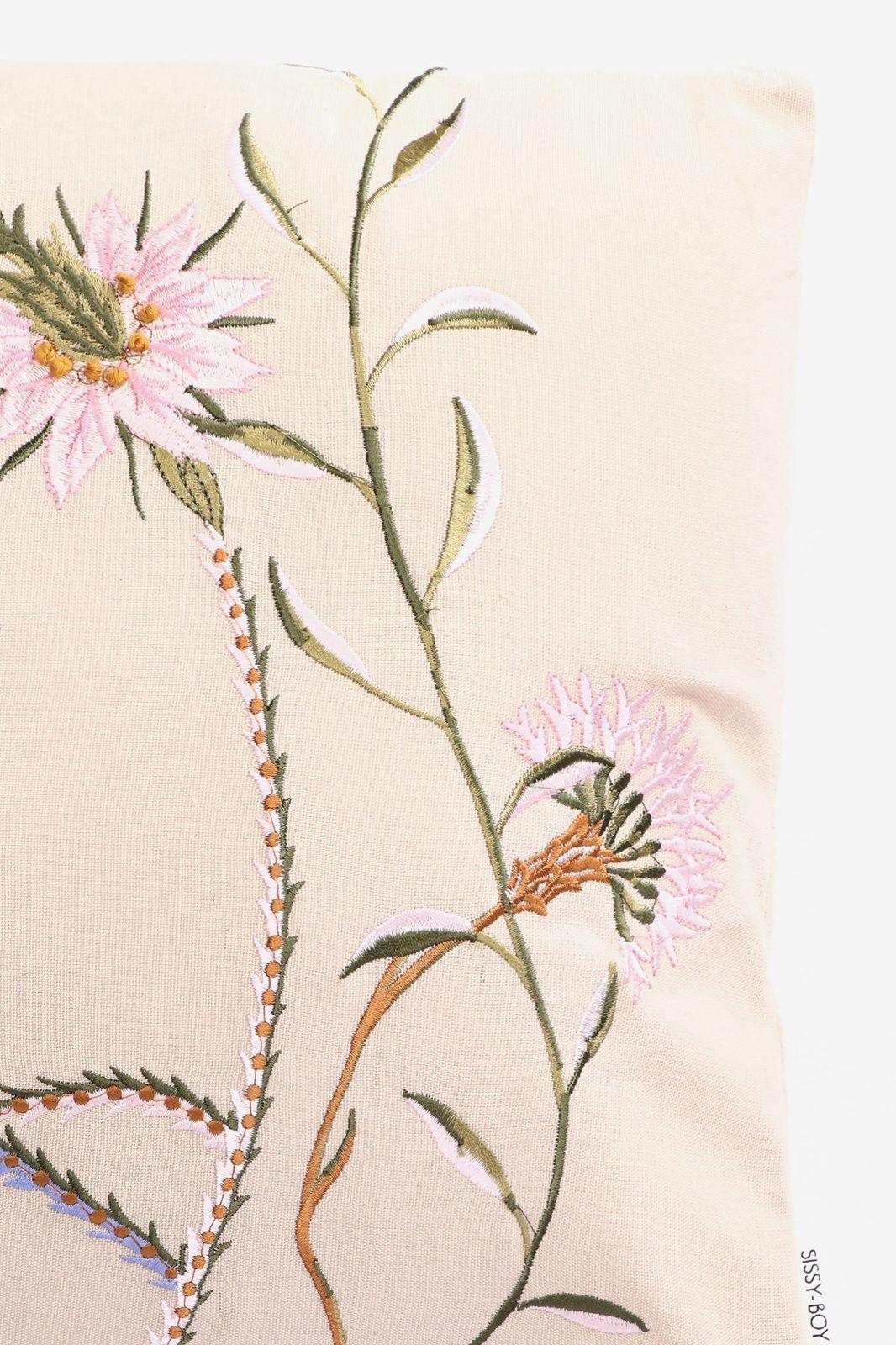 Beige sierkussen bloemen - Homeland | Sissy-Boy