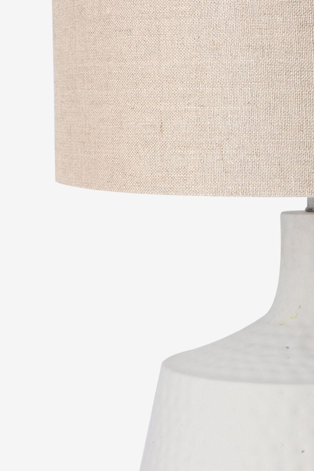 Tafellamp met linnen kap en keramieken voet - Homeland | Sissy-Boy