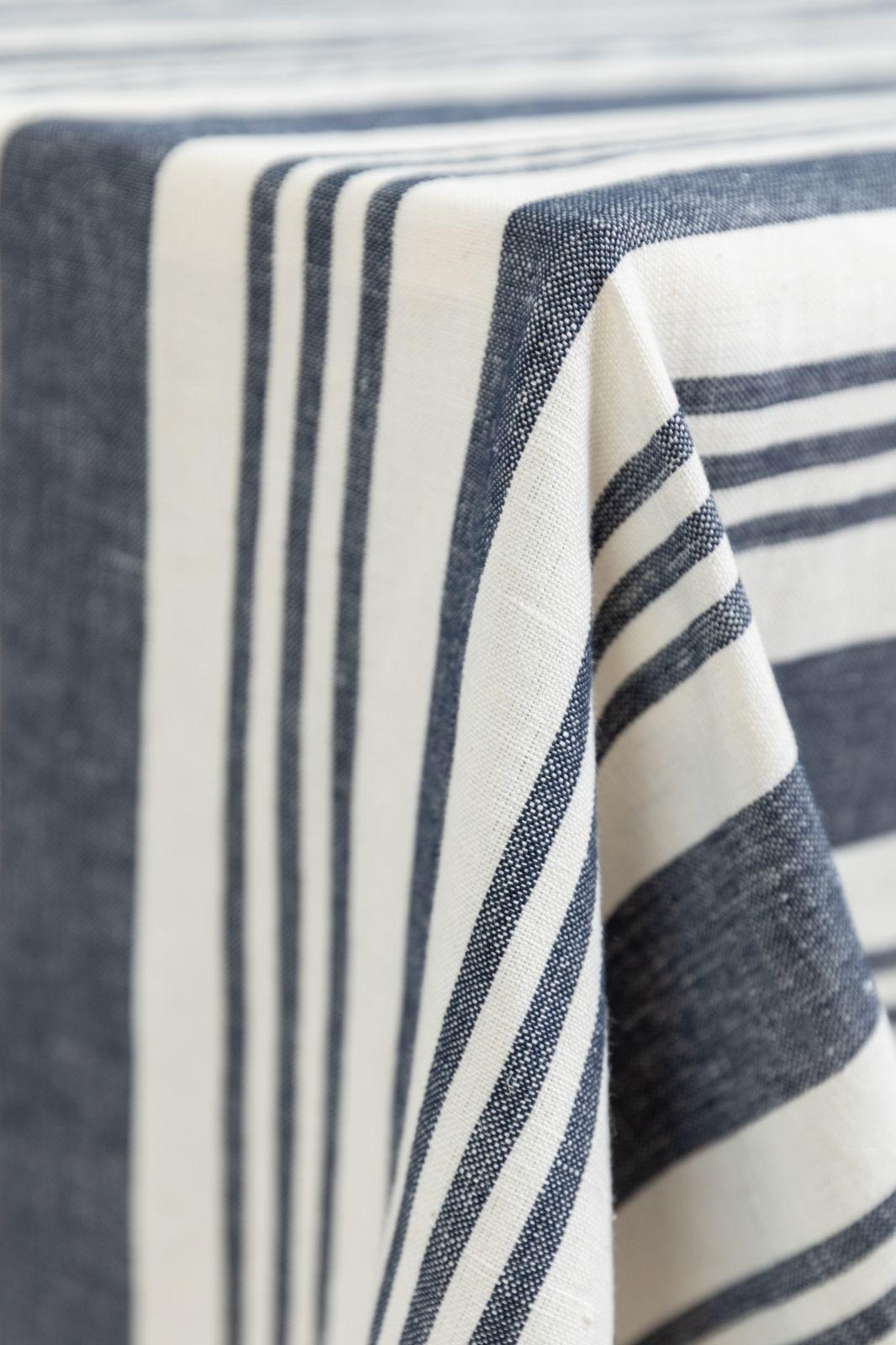 Tafelkleed linnen stripe