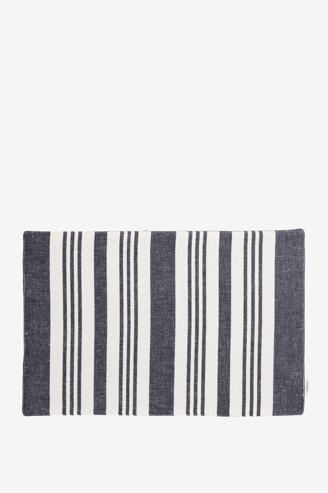 Donkerblauwe placemat set linnen