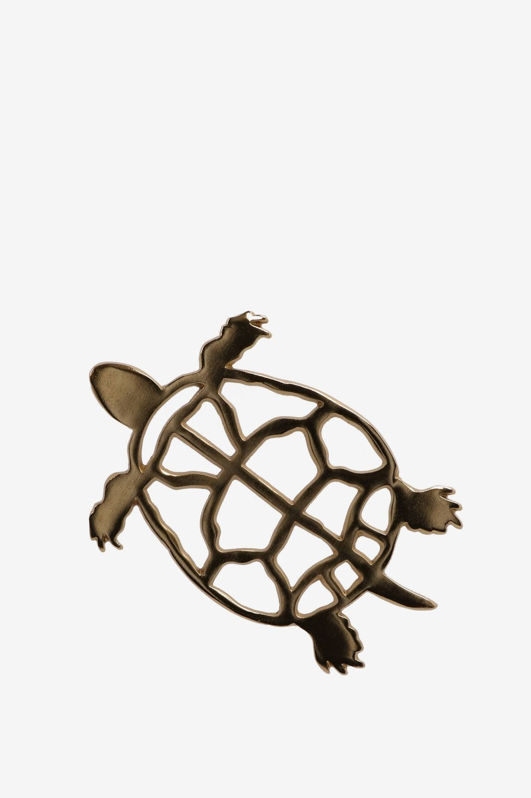 Messing onderzetter schildpad